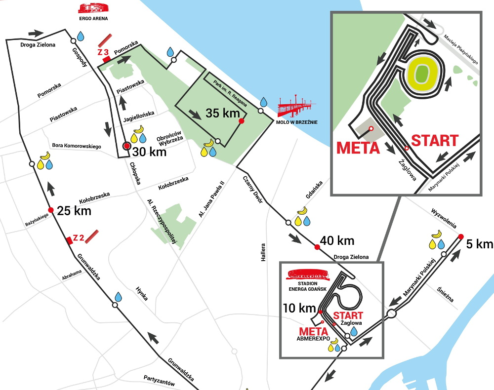 6. Gdańsk Maraton trasa