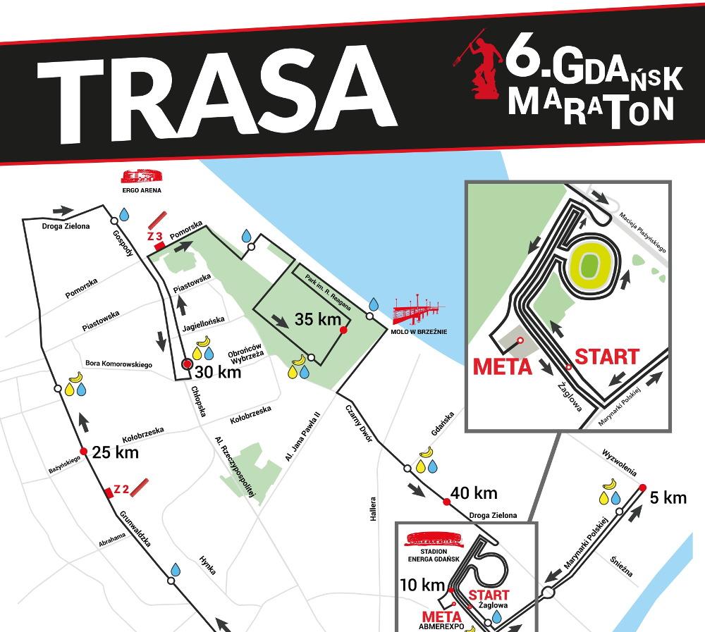 6. Gdańsk Maraton pokazał trasę