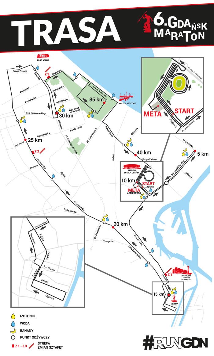 trasa Gdańsk Maraton 2020
