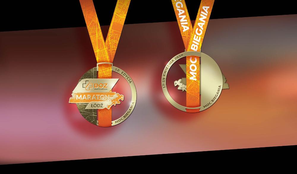 medal DOZ Maraton Łódź 2020