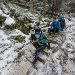 VI Zimowy Półmaraton Gór Stołowych. Natalia Tomasiak i Pavel Brydl