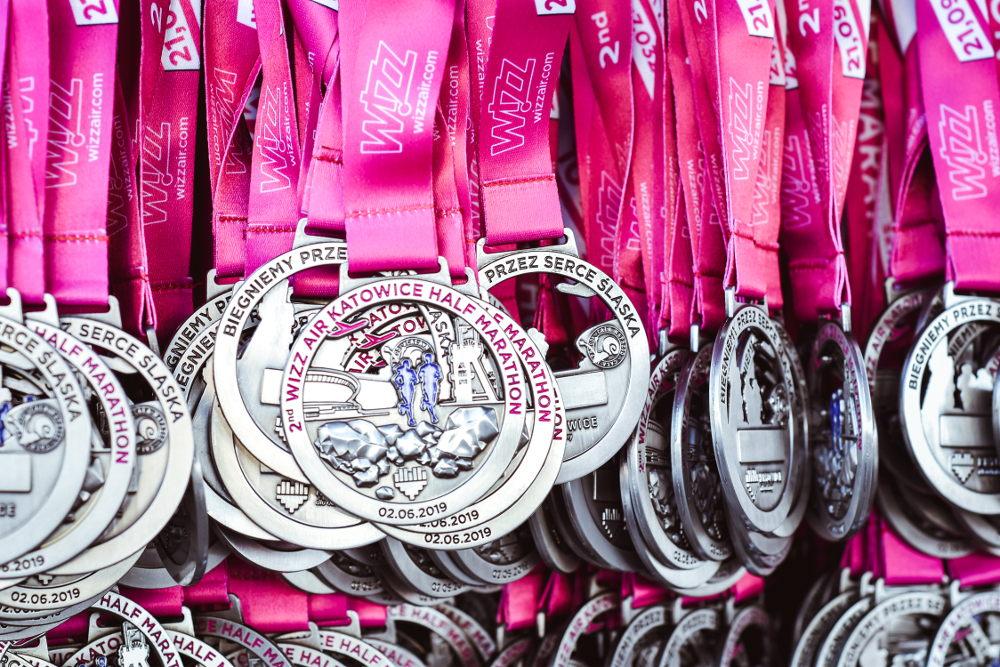Wizz Air Katowice Half Marathon medal